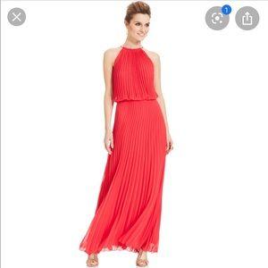 NWT Xscape   Chiffon Pleated Maxi Evening Dress